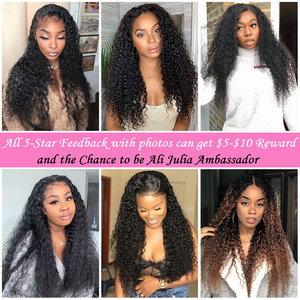 Image 5 - Malaysian Curly Hair Bundles With Closure Pre Plucked Hairline Remy Human Hair Bundles With Closure Julia 3 Bundles With Closure