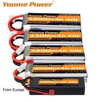 Meme 2S 3S 4S 6S batería de Lipo de 3300mah 4500mah 5200mah 6200mah 6500mah 60C T decanos XT60 TRX para FPV aviones Heli coche piezas de control remoto