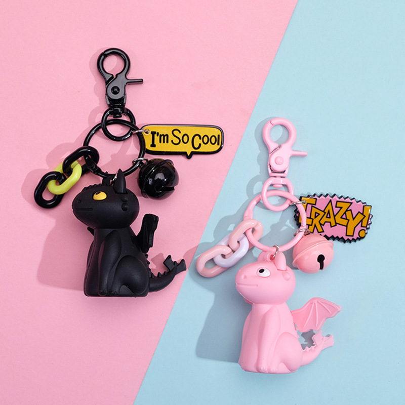 Cute Cartoon Keychains How To Train Your Dragon Night Fury Toothless Action Figure PVC Doll Pendant For Kids Toys Keyrings