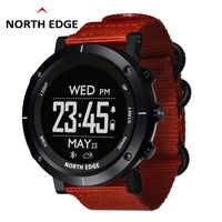 Homem esporte ao ar livre digital relógio inteligente à prova d50 água 50m pesca gps altímetro barômetro termômetro bússola altitude borda norte