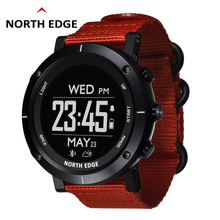 цена Man outdoor sport digital smart watch waterproof 50m fishing GPS Altimeter Barometer Thermometer Compass Altitude NORTH EDGE онлайн в 2017 году