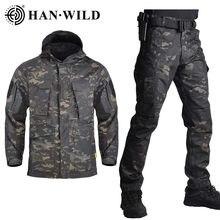 HAN WILD – vestes et pantalons de Camouflage militaires, coupe-vent tactique de l'armée américaine pour hommes, veste de terrain à capuche, vêtements d'extérieur, M65