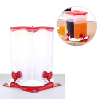 28*21cm Separated Rotating Beverage Dispenser 3 Grid Juice Beer Wine Bucket with Tap Faucet for Home Party Bar Supplies Drinking