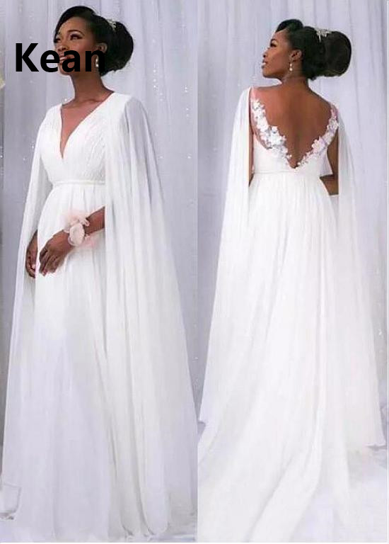 Backless Wedding Dress V-neck Applique A-Line With Jacket Cheap Dubai Arabic Robe De Mariee Custom Made New Arrival