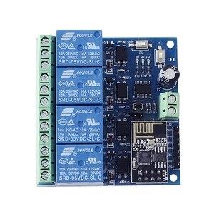 A5 -- 5 В/12 В ESP8266 ESP-01 4 WiFi реле канала модуль IOT умный дом телефон приложение контроллер на борту ESP01