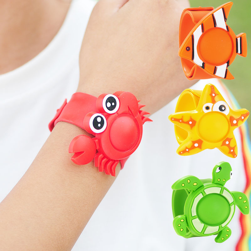 Silicone Cartoon Baby Pest Insect Bugs Anti-mosquito Bracelet Children Outdoor Mosquito Repellent Wristband Dropship