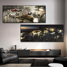 Racing Car Repair Poster Canvas Painting Print Hoom Decor Wall Art Picture For Living Room Home Decoration Frameless
