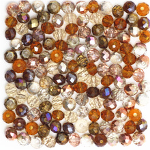 Isywaka Golden Multicolor 3*4mm 145pcs Rondelle Austria faceted Crystal Glass Beads Loose Spacer Round Beads for Jewelry Making