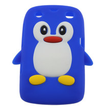 3D Penguin Shape Silicone case cover for Blackberry 9360 /9350 /9370/Curve PT163 Exquisitely Designed Durable(China)