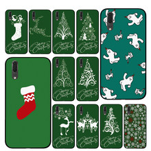 Green Christmas Luxury Phone Cases For Huawei Honor V9 V10 8 9 10 8X 5A 7A 5X Play Lite(China)