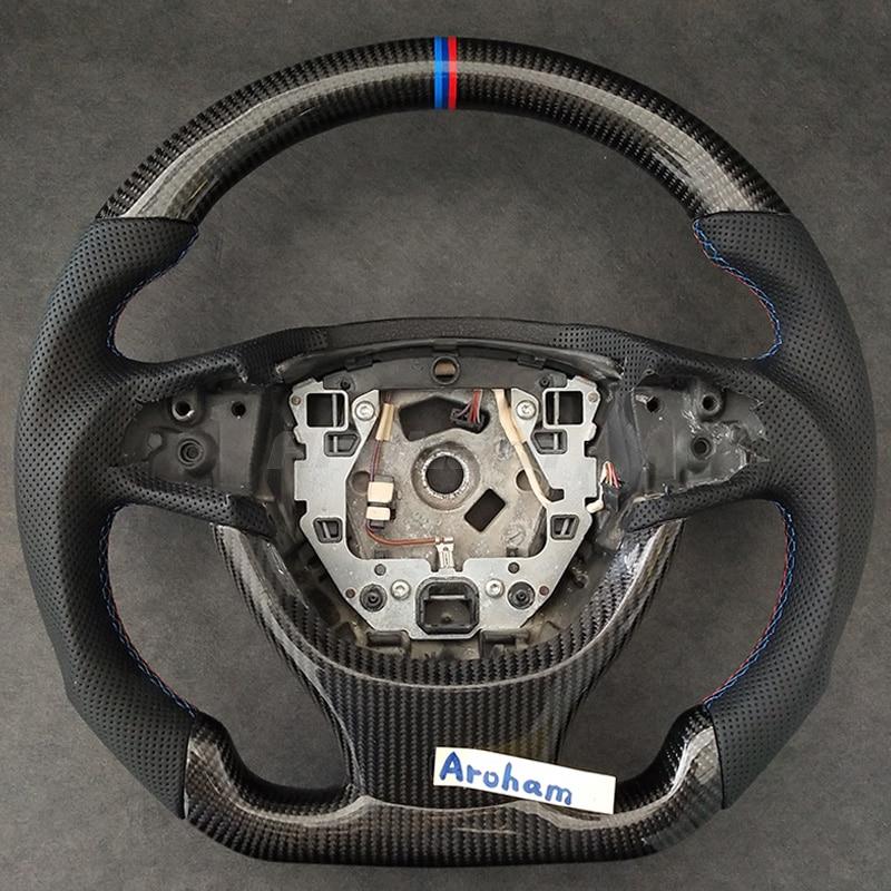 Руль из углеродного волокна для BMW 1 2 3 4 5 7 серии X1 X3 X5 X6 E90 E92 E60 F10 F30 M серии Сменные аксессуары