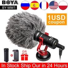 BOYA – Microphone vidéo universel, BY-MM1, pour caméra DSLR, iPhone, Android, Smartphones, Mac, tablette