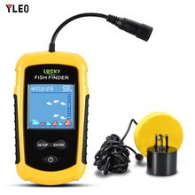 YLEO Hot Sale Alarm 100M Portable Sonar LCD Fish Finders Fishing lure Echo Sounder Finder1108-1