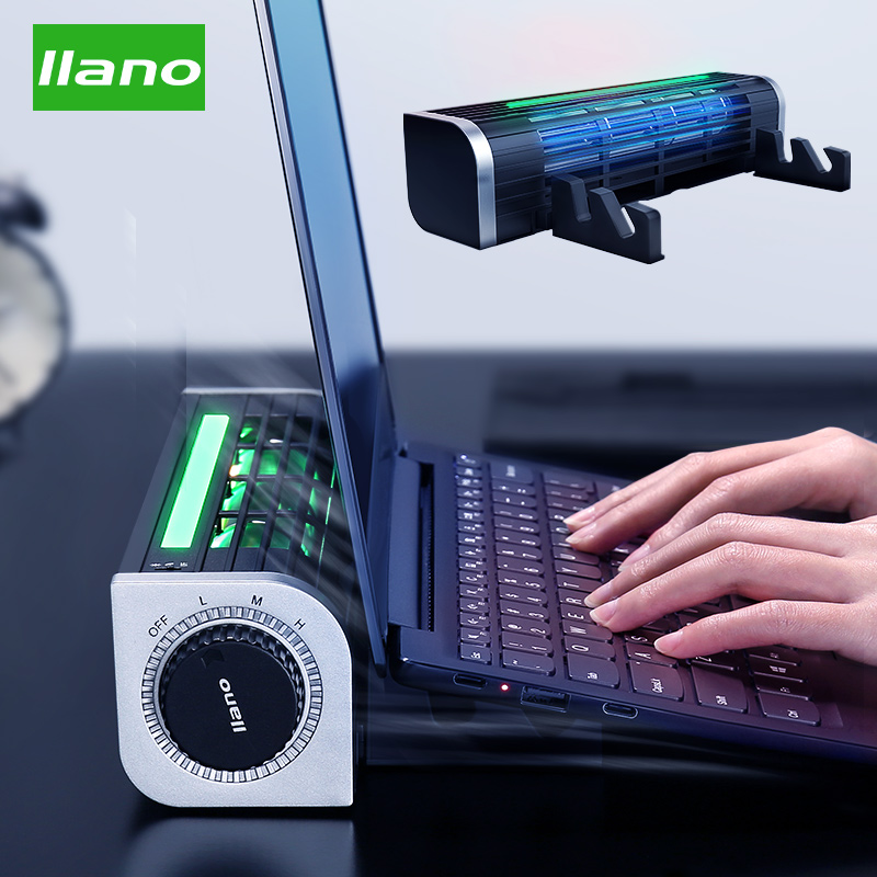Llano Notebook Radiator Notebook Stand Cooling Rack Cooling Pad Wind Speed Adjustable With RGB For Laptops/tablets/phones Cooler