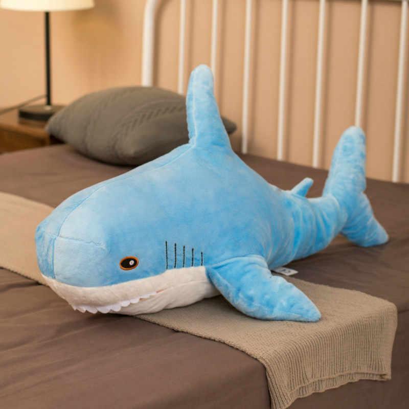 Wielki rekin zabawki wypchane zwierzę i pluszowe zabawki rosja Shark Doll miękkie poduszki poduszka na sofę pluszowy rekin od Ike A Kids Birthday Gift