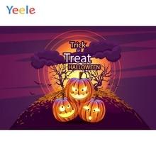 Yeele Halloween Photocall Pumpkin Lantern Moon Tree Photography Backdrops Personalized Photographic Backgrounds For Photo Studio