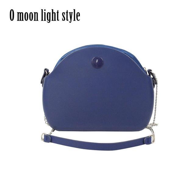 New O bag moon light Body with long chain waterproof  inner pocket bag rubber silicon O moon light Obag women handbag