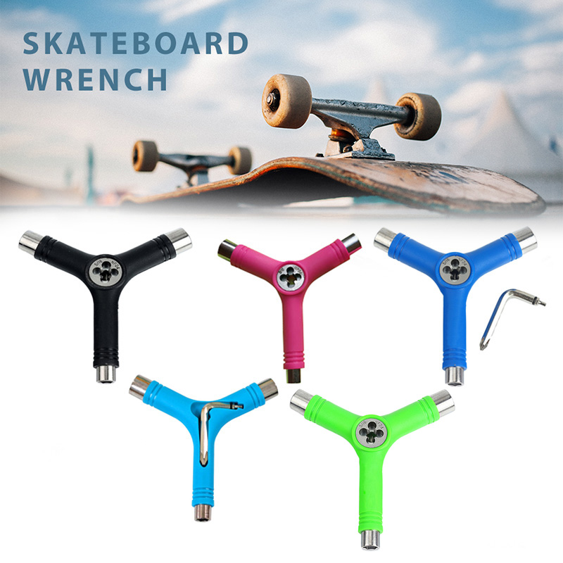 Newly Skateboard Repair Y Shape Tool Portable Multifunctional Accessory With L Type Wrench