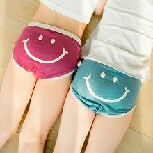 3-10y kids underwear for baby girls cute cotton briefs under wear child boxers pants panties Korean style Smile N008