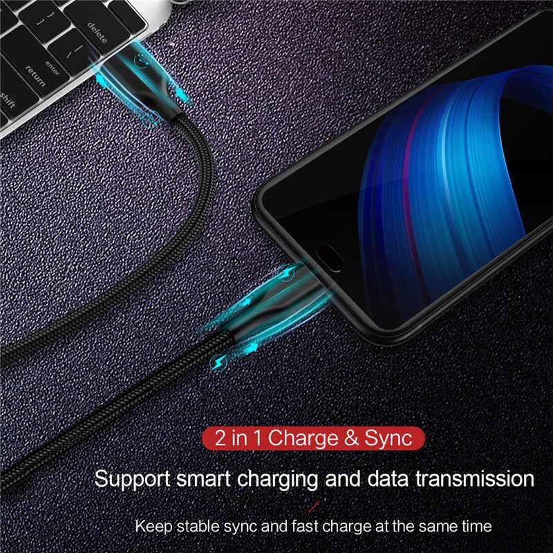 マイクロ USB ケーブル 2.4A ナイロン高速充電 USB データケーブルサムスン Xiaomi Huawei 社 LG タブレット Android 携帯電話 USB 充電コード