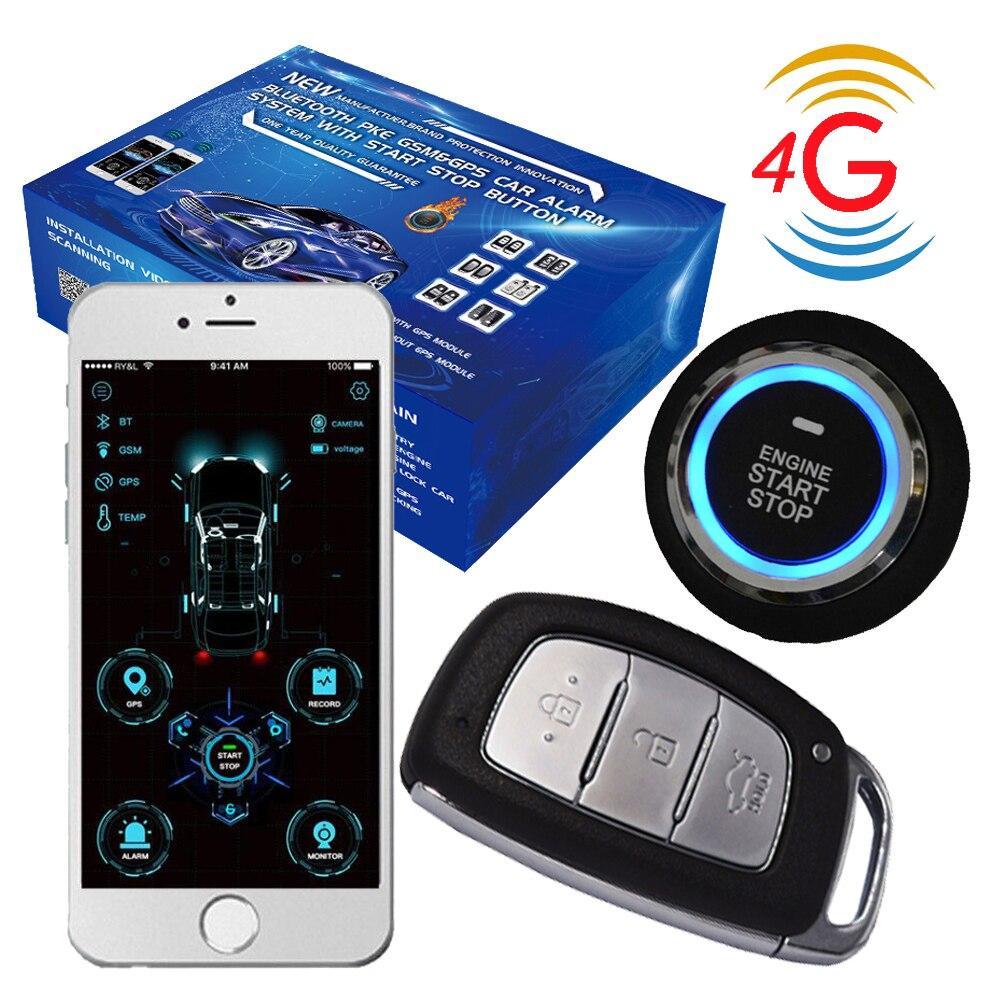 Cardot Новый 4g пассивный кнопочный пусковой кнопки Пуск дистанционного запуска PKE Автомобильная сигнализация GPS/GSM охранная сигнализация