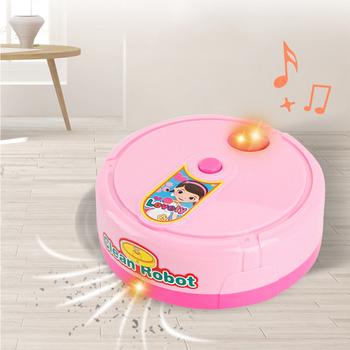 Zabawa dla dzieci zabawki domowe Mini Robot odkurzający mały sprzęt agd oświetlenie elektryczne muzyka zabawka symulacyjna prezent tanie i dobre opinie AOSST Z tworzywa sztucznego Unisex Keep out fire 1 10 3 lat Wyroby gotowe