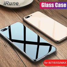 Luxury Tempered Glass Case For iPhone 11 Pro Max XR XS Edge Plating 8 7 6S Plus Protective With Cover
