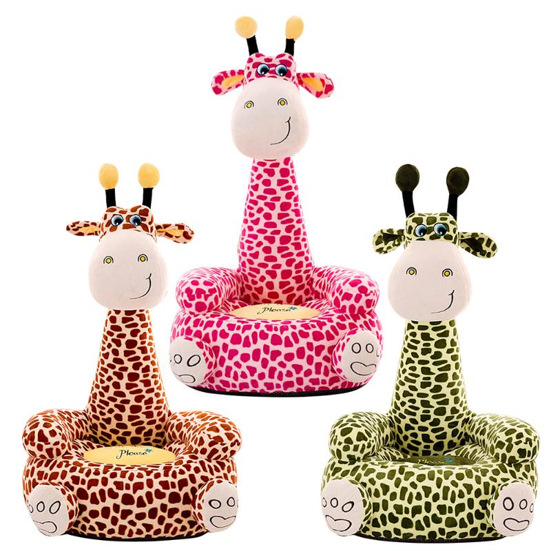 Baby Sofa Support Seat Cover Elaborate Manufacture Prolonged Durable Cartoon Giraffe Toddler Learning To Sit Chair Case