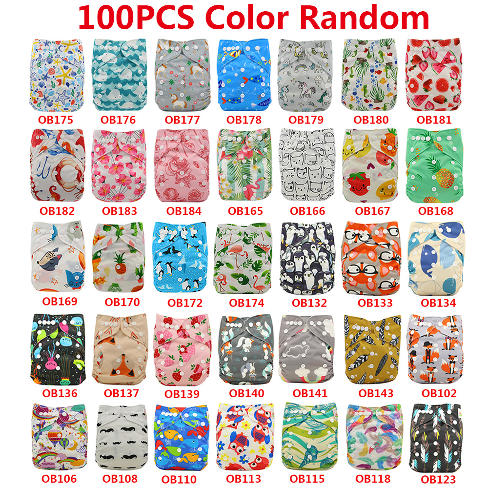 Baby Cloth Diaper Nappies Cover Character Print Waterproof Baby Pants Adjustable Baby Shower Gifts Pocket Diaper Wholesale