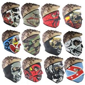 Image 5 - Motorcycle Balaclava Ghost Tactical Mask Neoprene Mask CS Neck Warm Face Shield Veil Sports Warm Windproof Ski Bike Mask