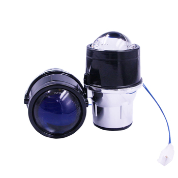 Automotive Universal Lens Coating Super Bright Modification 2.5 Inch Blue Film Double Fog Lamp Lens Far And Near Light Double He