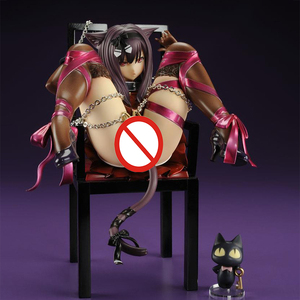 Japanese Anime Embrace Sexy Cat Girl Figures Chu-ka na Neko & Chair PVC Action Figure Anime Sexy Gril Collectible Model Doll Toy