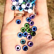 Olhos de vidro cabochons redondos 6mm-30mm cúpula redonda dragão olho de gato brinquedos diy jóias acessório mix aluno olho cameo