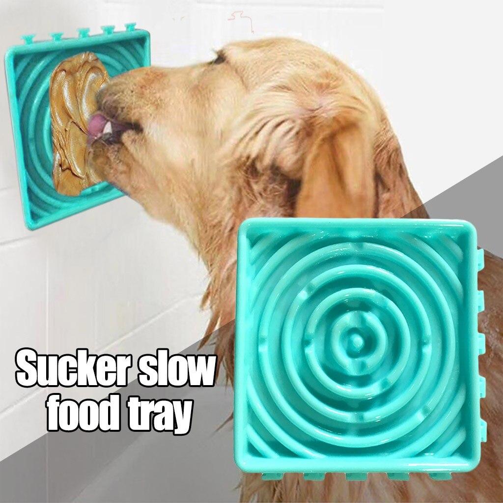 Nouveau chien alimentation nourriture plaque Silicone chien alimentation Lick Pad chien gamelle pour ingestion lente traiter tapis de distribution pour chiens chats #0826y30