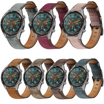 2020 Genuine Leather Strap For Huawei Watch GT2E 2E/GT2 2 46MM/GT Active Smart Watch Band 22MM PU Straps For Honor Magic Correa