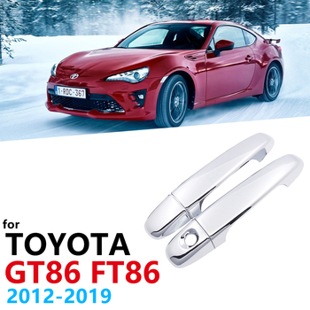 ABS Chrome Door Handle Cover Trim Set For Toyota 86 GT86 FT86 GT FT 2012 2013 2014 2015 2016 2017 2018 2019 Car styling image