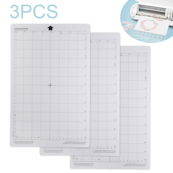 3pcs/set Replacement Cutting Mat Transparent Adhesive Mat Pad With Measuring Grid For Silhouette Cameo Plotter Machine 3pcs replacement cutting mats for silhouette cameo 3 2 1 machine cut plotter 12x12 inch adhesive clear mat with measuring grid