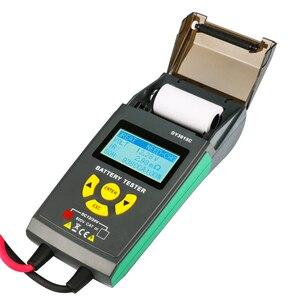 Image 2 - רכב סוללה בודק עם הדפסת 12V 24V מנתח עופרת חומצה אוטומטי CCA IEC EN DIN JIS עבור נייד מדפסת אבחון כלי DY3015C