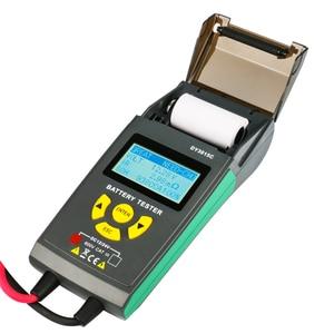Image 2 - Car Battery Tester With Print 12V 24V Analyzer Lead acid auto CCA IEC EN DIN JIS For Portable Printer Diagnostic Tool DY3015C