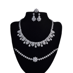 Jewelry Sets HADIYANA New fashion Temperament Elegant Charming For Lady Wedding High Quality Zirconia CNY0050 Conjunto de joyas