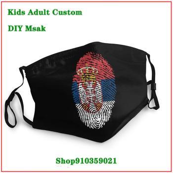 New Coming Vintage face mask fashion Serbia Flag Fingerprint masque france drapeau mascara reutilizable con filtro