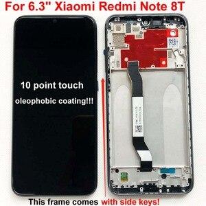 Image 3 - 100% yeni orijinal + çerçeve için 6.3 Xiaomi Redmi not 8T için LCD ekran ekran yedek LCD dokunmatik ekran digitizer ile 10