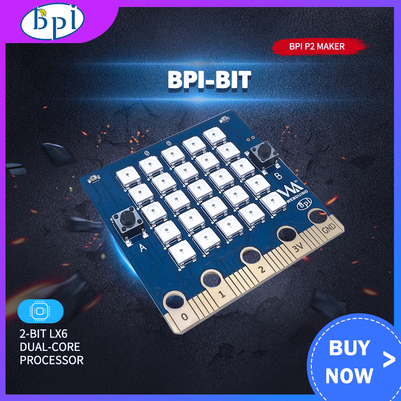 Banana PI Bit Board With EPS32 + Acrylic Case For STEAM Education