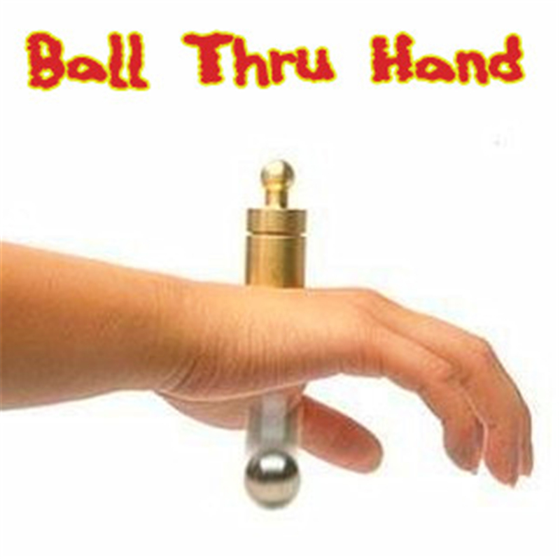 Steel Ball Thru Hand Magic Tricks Penetration Magica Magician Stage Close Up Illusions Gimmick Props Accessories Classic Toys