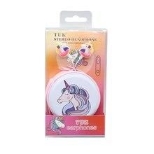 Auriculares universales con cable y micrófono para niños y niñas, audífonos de música con dibujos de unicornios coloridos, para regalo de teléfono