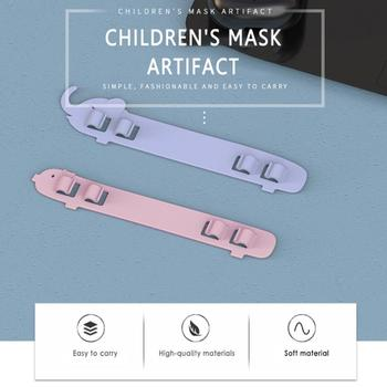 4 Pcs 2nd Gear Adjustable Anti-slip Extension Ear Hook Mask Fixing Buckle Holder Cute Mask Ear Hook Child Silicone Belt Ear Hook tanie i dobre opinie Unisex 12 * 2 * 0 1m 10 g as the picture show
