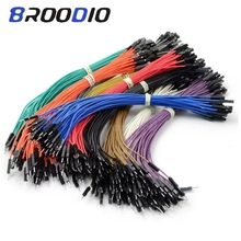 цена на 50pcs DIY Electronic Kit Breadboard Dupont Cable For Arduino 20cm 2.54mm Line Male Female Dupont Jumper Wire Cable 1P Connector