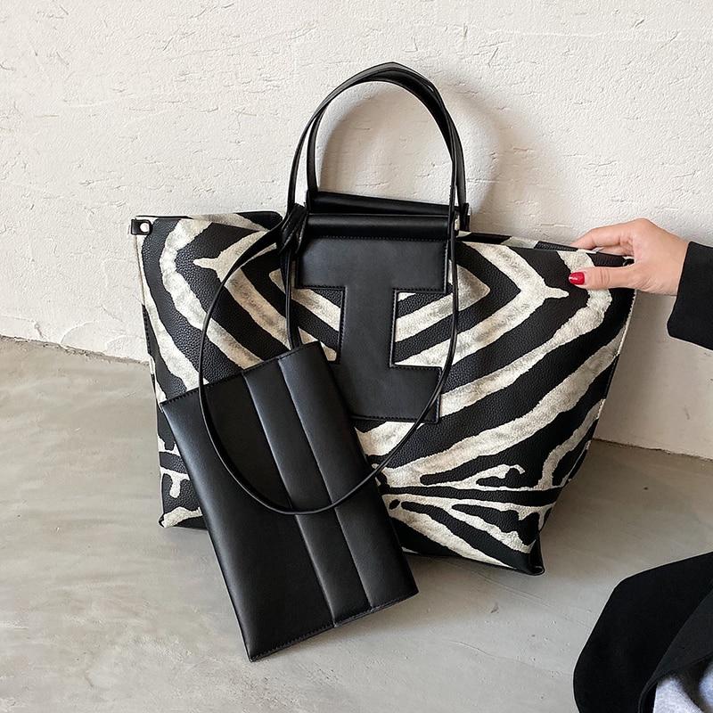 с доставкой Winter Large PU Leather Shoulder Bags for Women 2020 Trend Hand Bag Women's Branded Trending Leopard Handbags