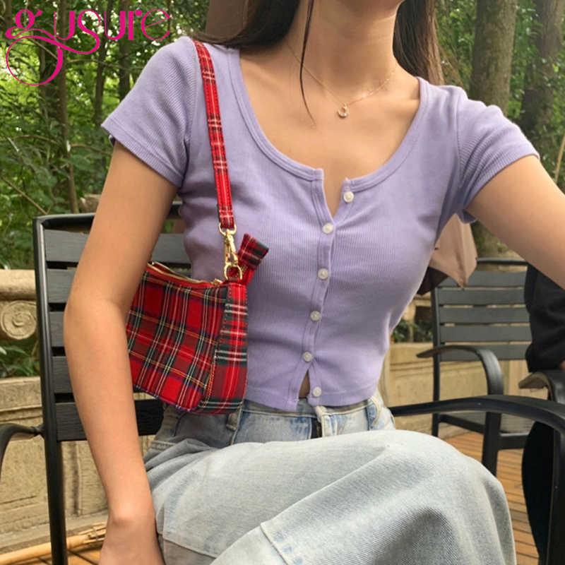 Gusure 2020 heißer verkauf vintage retro taschen designer damen hand tasche Französisch plaid rote tasche frau elegante bolsa feminina schulter tasche