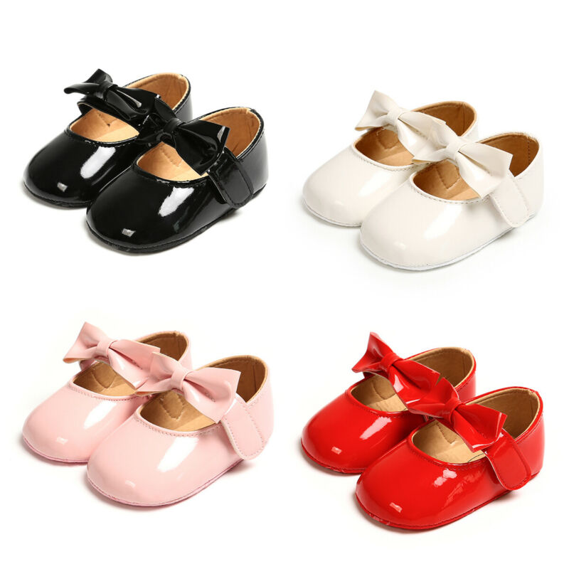 0-18Months Infant Newborn Baby Girl Crib Pram Shoes Bow-Knot Soft Sole Shoes Sandals